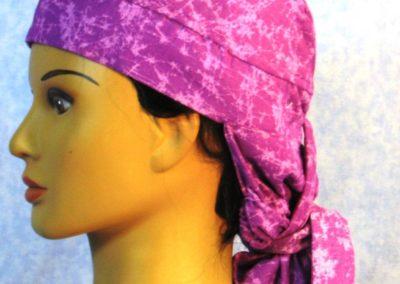 Hair Bag in Purple Web - left