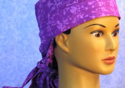 Hair Bag in Purple Web - right front