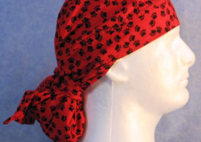 Hair Bag in Red Paws - right
