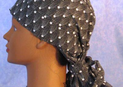 Hair Bag in Shooting Stars on Black - left