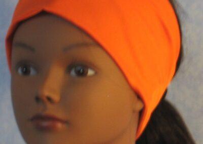 Headband in Orange Swim Knit - left