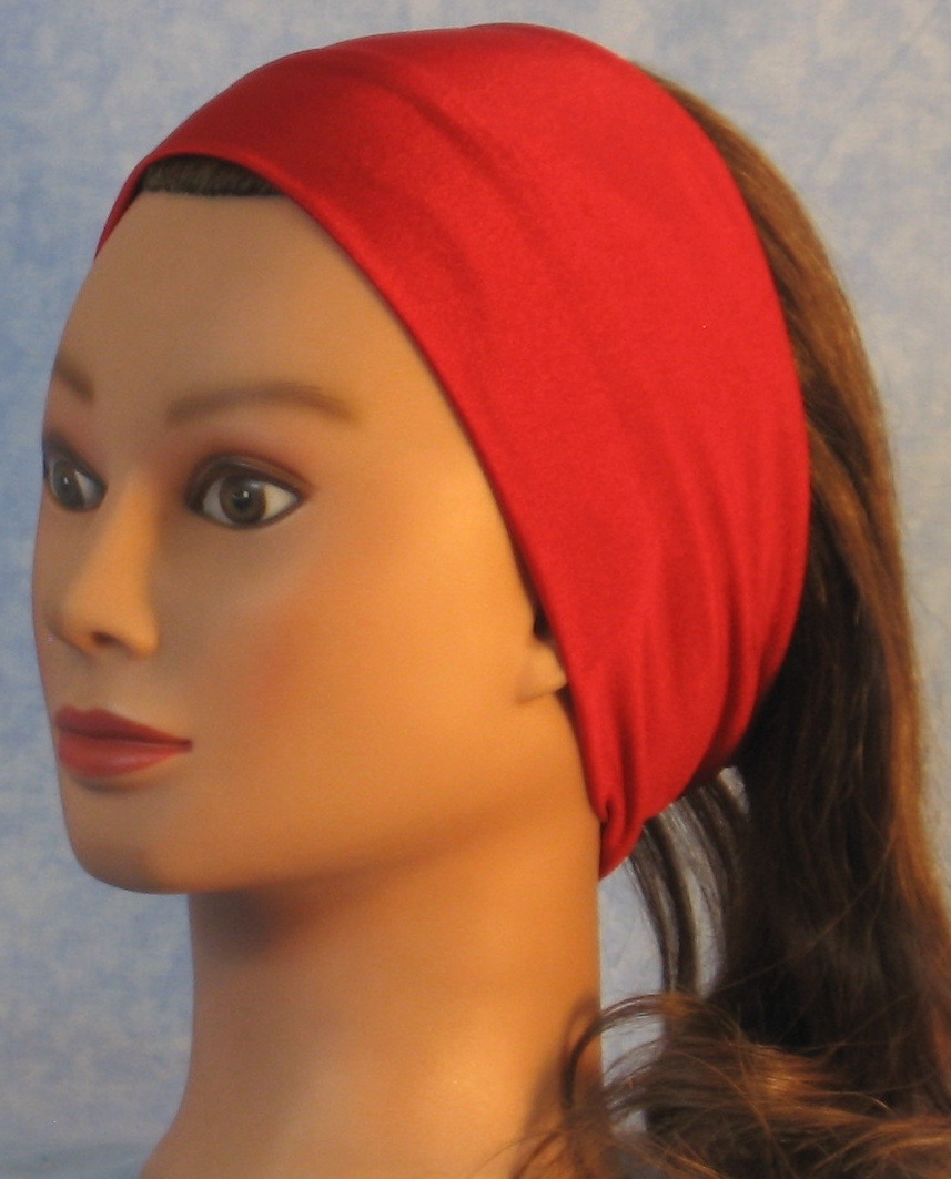Headband-Red Swim Knit-Youth L-XL