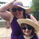 Excelsior Springs Waterfest 2016 - Mom and Daughter in Floppy Hat