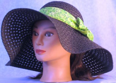 Floppy Hat Band in Green Butterfly Vines - left front