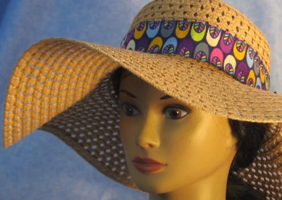 Floppy Hat Band in Purple with Shoes - front