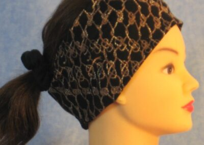 Headband in Brown Rope Knit - right