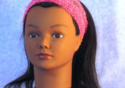 Headband in Pink Mesh Net – front