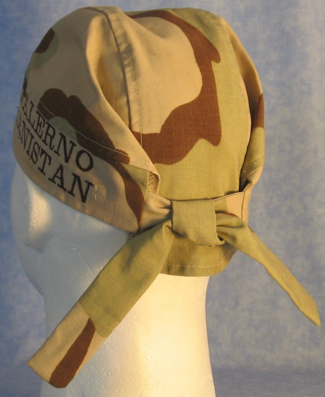 BW Desert Camo Tail-less Do Rag Replacement - back