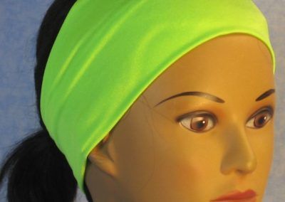 Headband in Lime Swim Knit - right