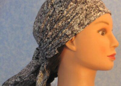 Head Wrap in Gray Speckle Camo - right 2