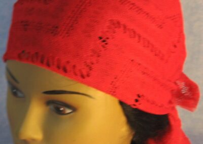 Head Wrap in Red Zigzag - top front