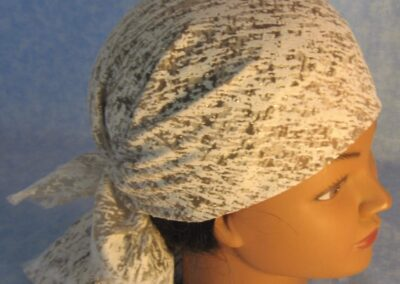 Head Wrap in White Cloud Burnout with Gold - top right