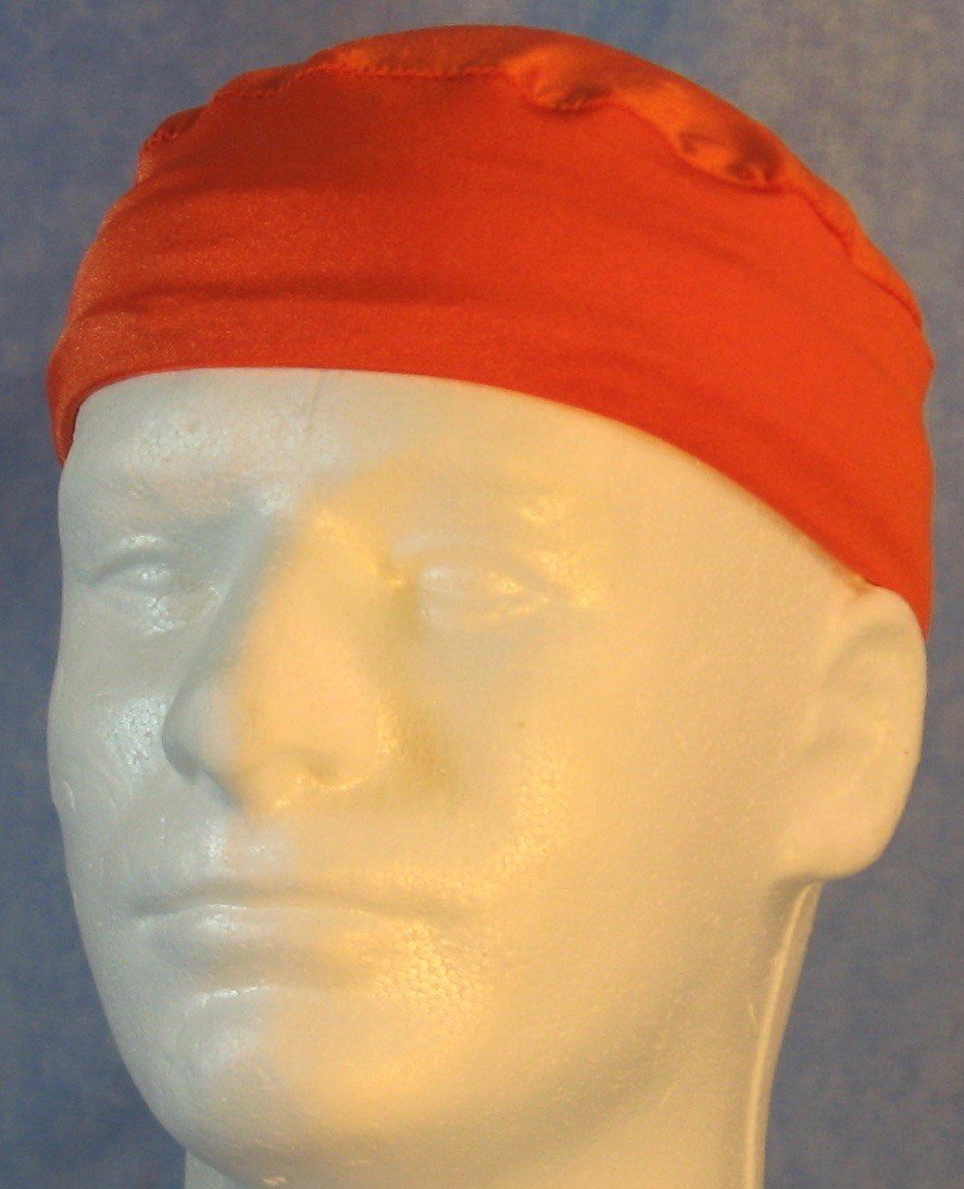 Skull Cap-Orange Knit-Adult XL