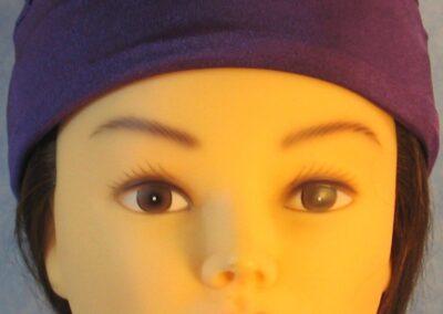 Skull Cap in Purple Swim Knit in Wicking Style - front