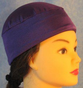 Skull Cap in Purple Swim Knit in Wicking Style - right