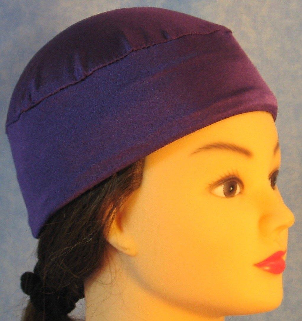 Skull Cap-Purple Knit-Adult L