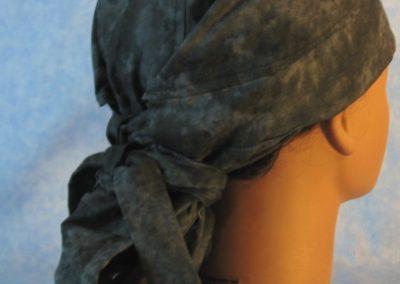 Hair Bag Do Rag in Black Smoky - back