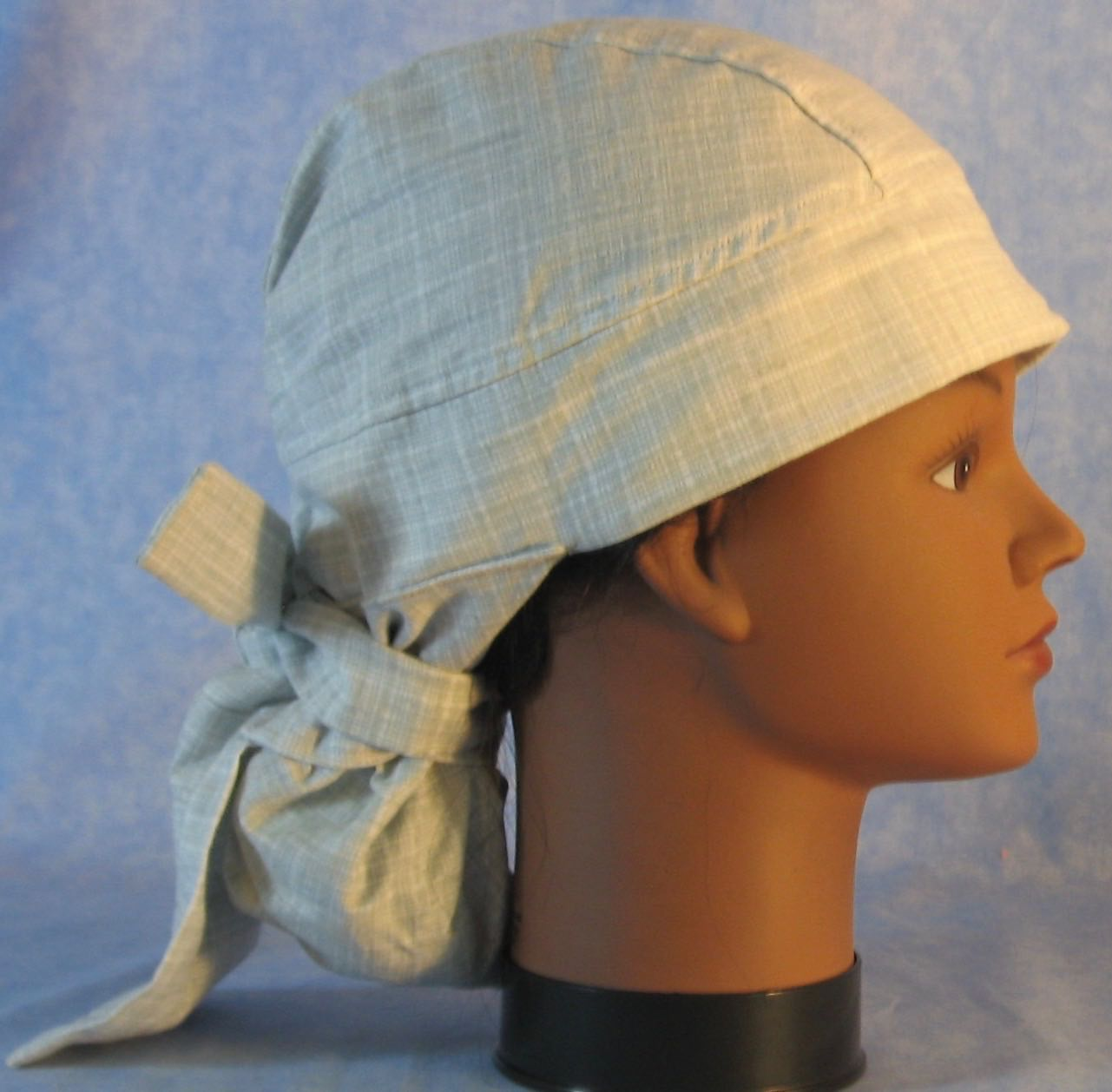Hair Bag Do Rag in Gray White Crosshatch - Adult M-XL