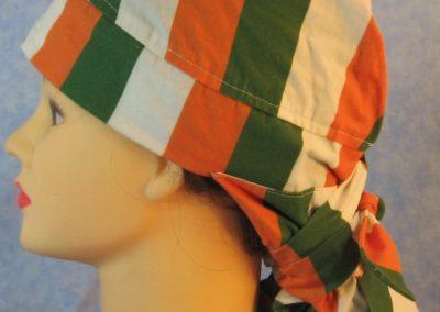 Hair Bag in Ireland Flag Stripe - left