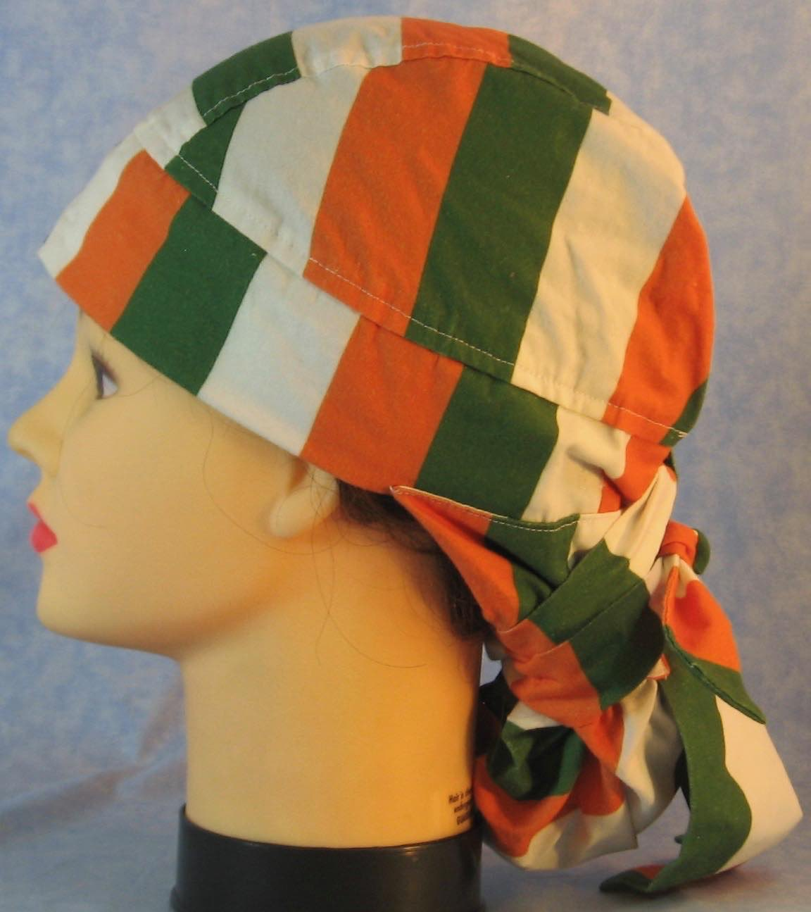 Hair Bag Do Rag in Ireland Flag Stripe - Adult M-XL