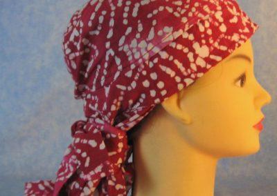 Hair Stocking in Pink White Bones Batik - right