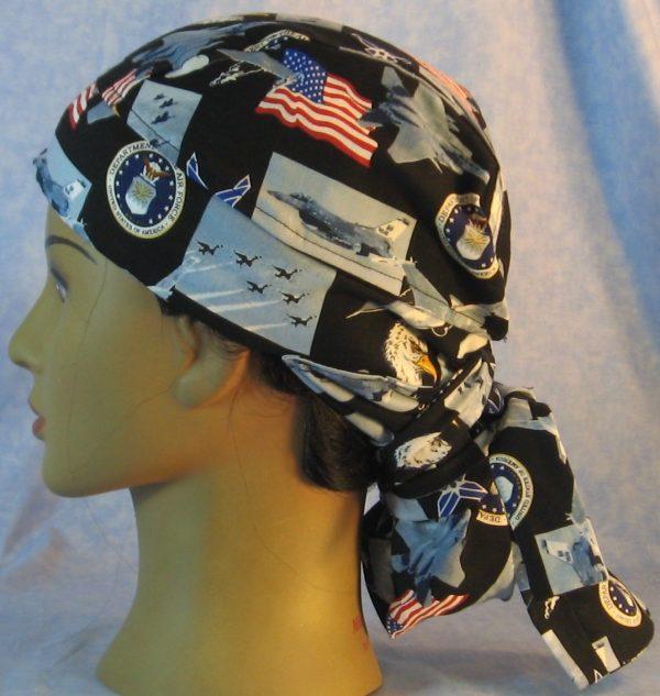 Hair Bag in US Air Force - left