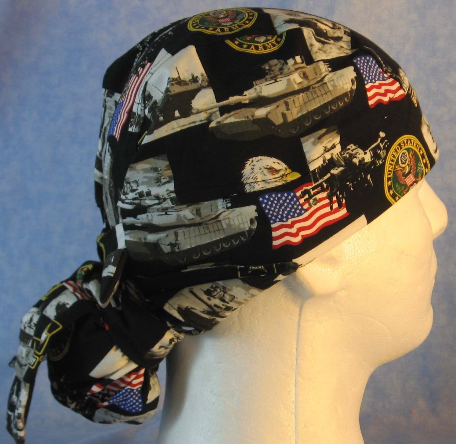 Hair Bag Do Rag in US Army - Adult M-XL