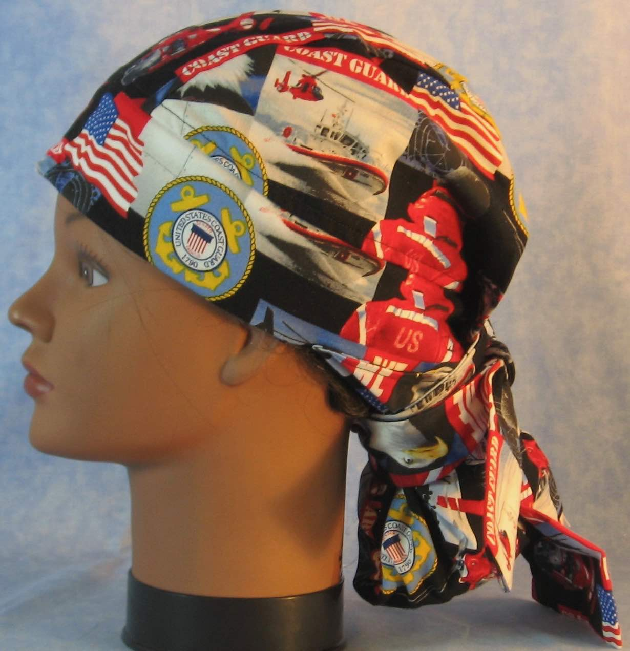 Hair Bag Do Rag in US Coast Guard - Youth L-XL-Adult S
