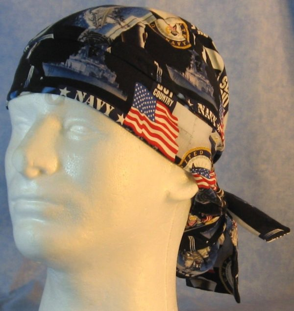 Hair Bag in US Navy - front
