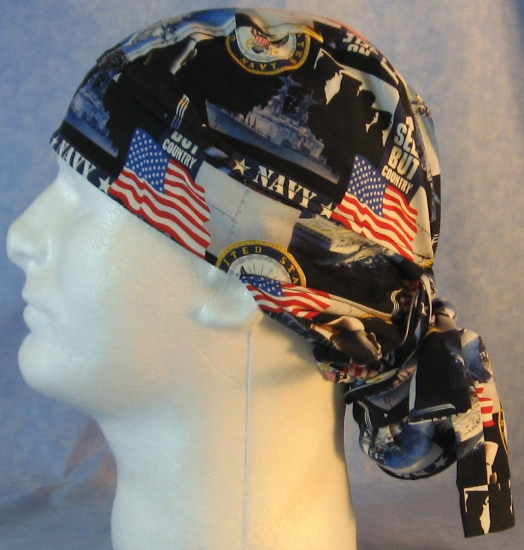 Hair Bag Do Rag in US Navy - Adult 1XL-3XL