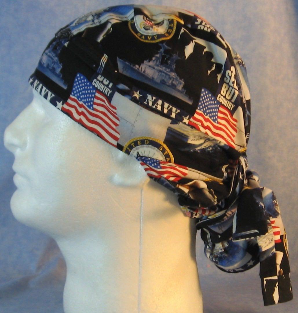 Hair Bag Do Rag in US Navy - Adult M-XL