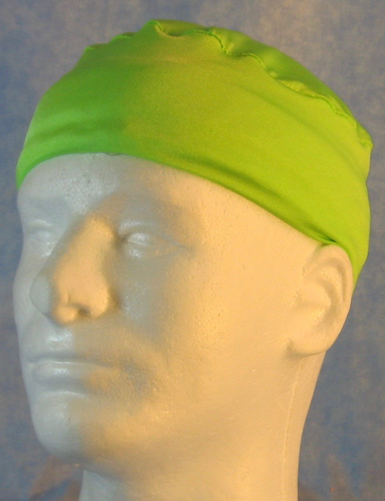 Skull Cap-Lime Knit-Adult M
