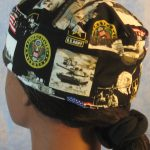 Skull Cap in US Army - back