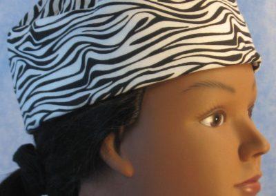 Skull Cap in Zebra in Wicking Style - right