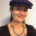 Rawls-Riley in Flat Cap in Purple Black Plaid Houndstooth Wool