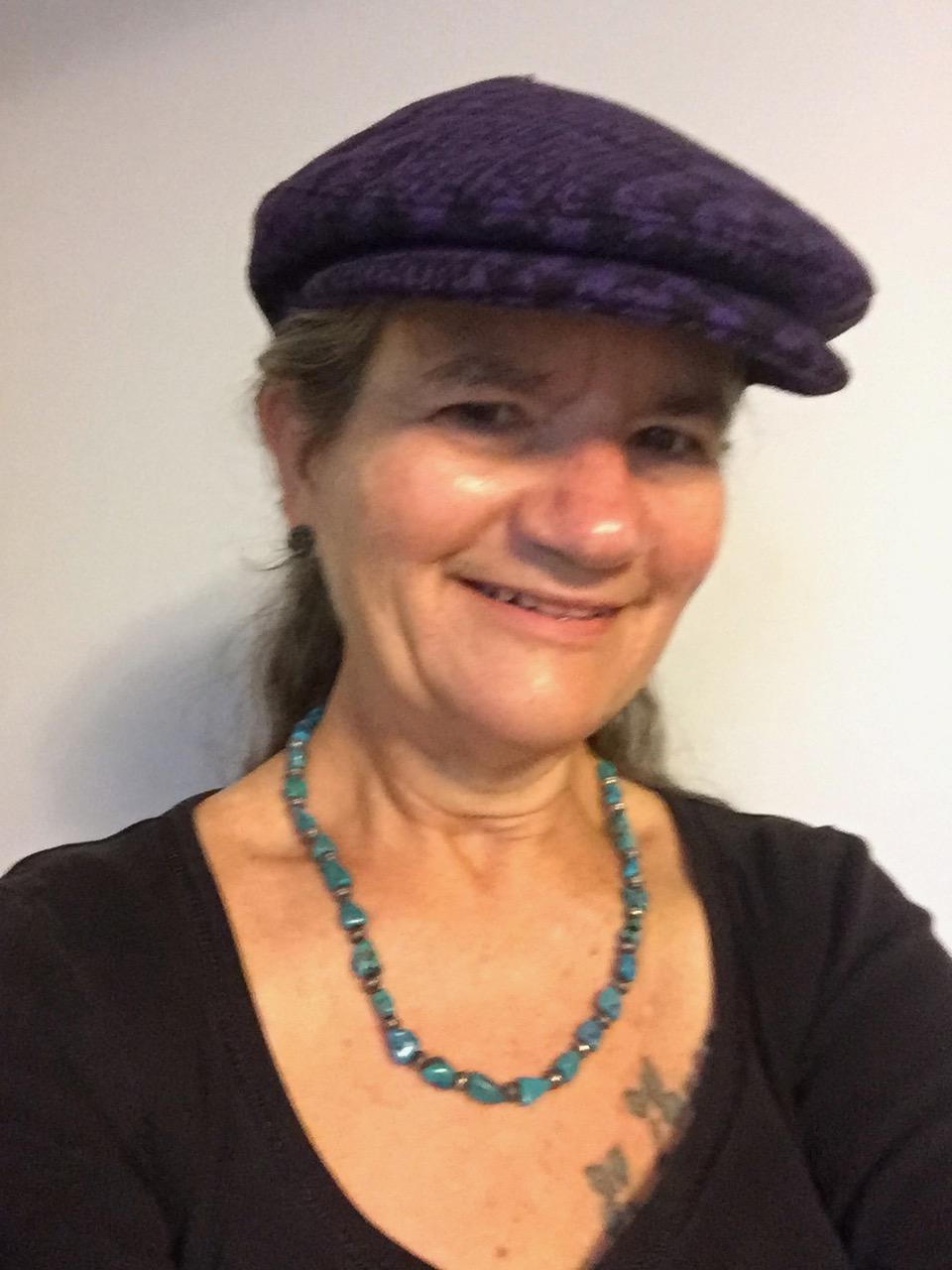 BRR in Purple Flat Cap Wool