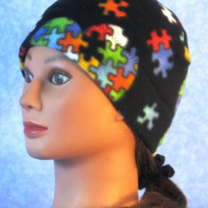 Band Cap in Autism Awareness - left