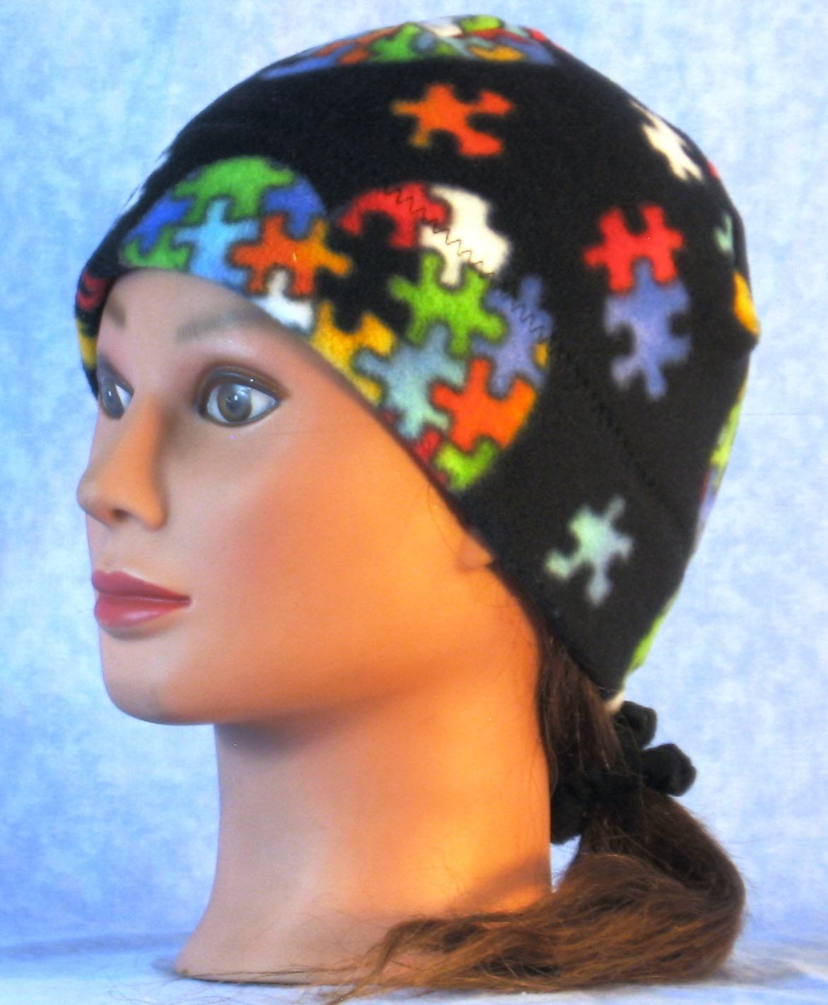 Beanie Band Cap in Autism Awareness-Youth L-XL