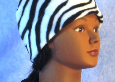 Band Cap in Black White Zebra - right