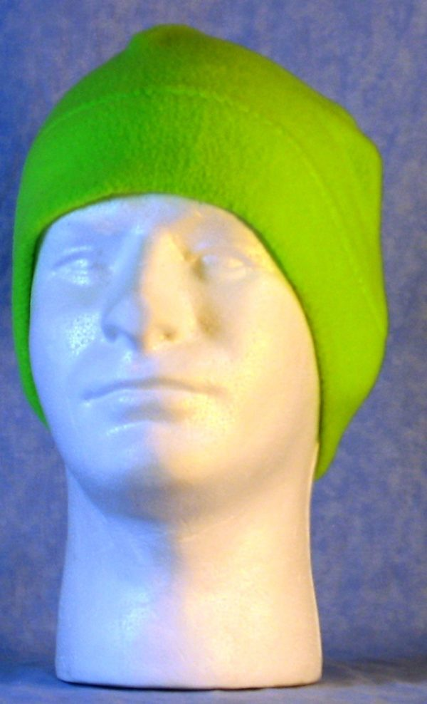 Beanie Band Cap in Fluorescent Green - front