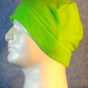 Beanie Band Cap in Fluorescent Green - left