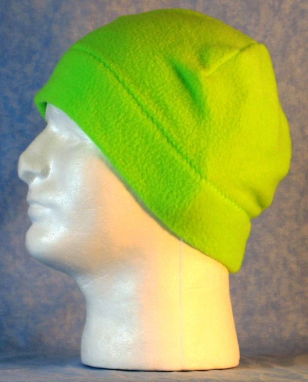 Beanie Band Cap in Fluorescent Green - left