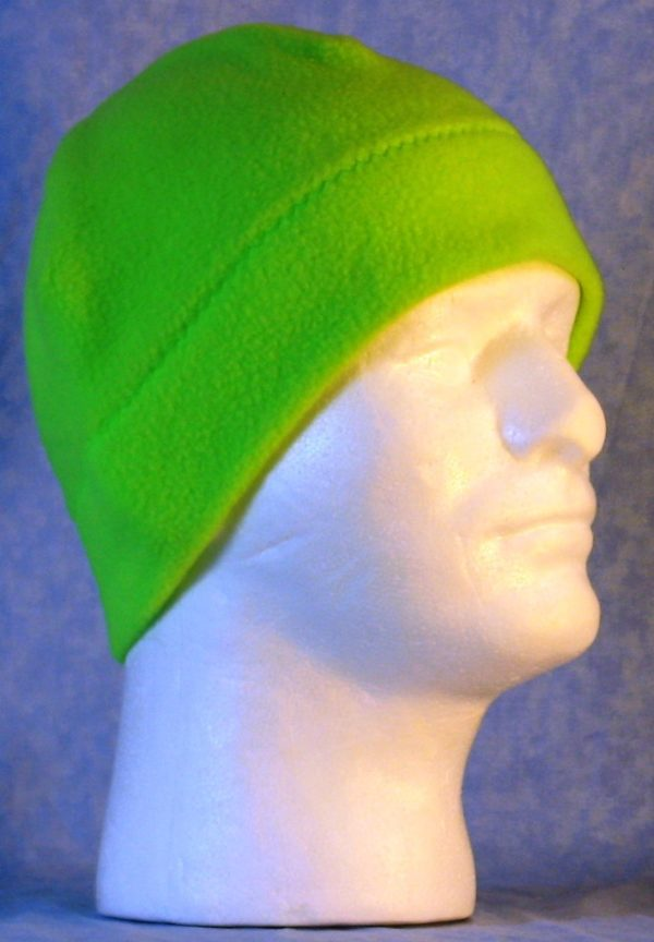 Beanie Band Cap in Fluorescent Green - right
