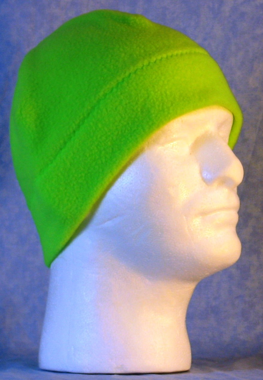 Beanie Band Cap in Fluorescent Green-Adult S