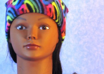 Beanie Band Cap in Fluorescent Swirl - front