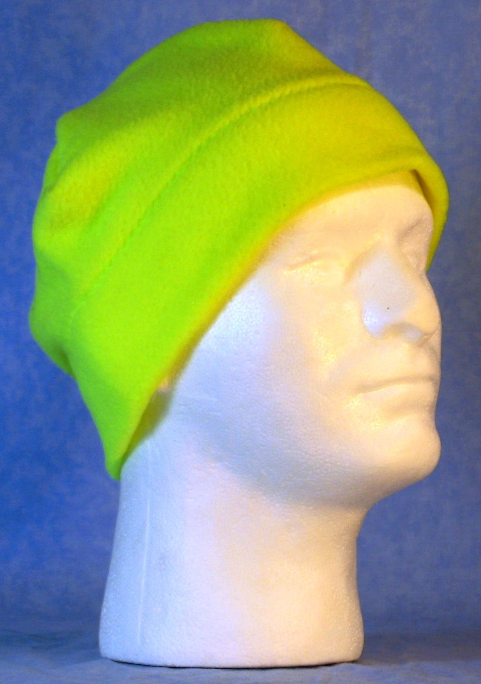 Beanie Band Cap in Fluorescent Yellow-Adult 1XL