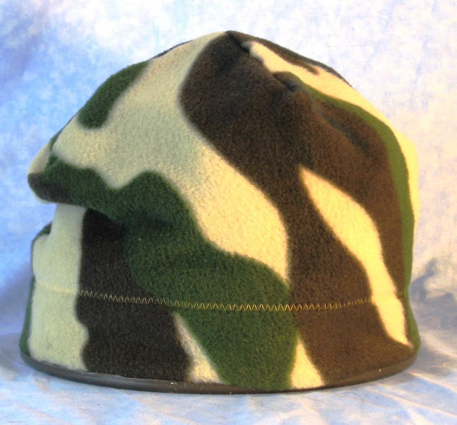 Beanie Band Cap in Green Brown Camo-Adult 2XL