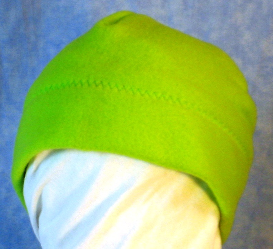 Beanie Band Cap in Lime Green-Baby 12 Month