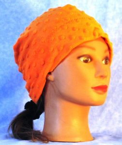 Beanie Band Cap in Orange Dimple - gal front