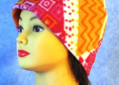Band Cap in Pink Orange Yellow Stripe - left front